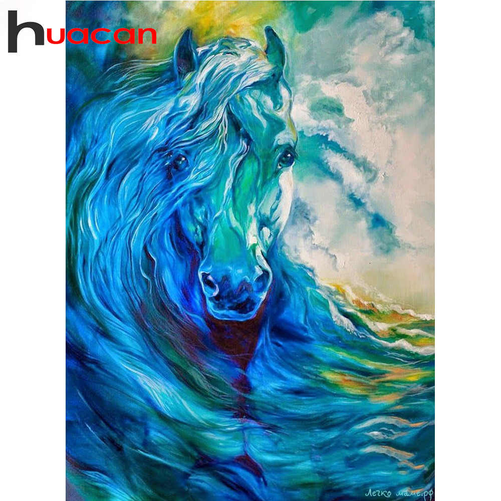 DIY Diamond Painting Horse Cross Stitch Full Square Diamond Mosaic Animals Pictures Of Rhinestones Diamond Embroidery Home Decor