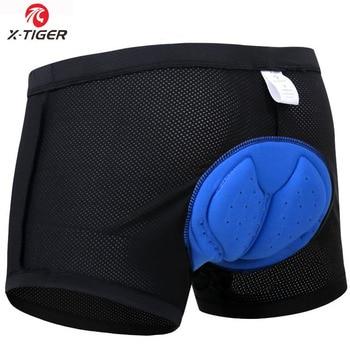 X-Tiger Upgrade Cycling Shorts Mesh Cycling Underwear 5D Gel Pad Shockproof Cycling Underpant MTB Shorts Bike Underwear 10