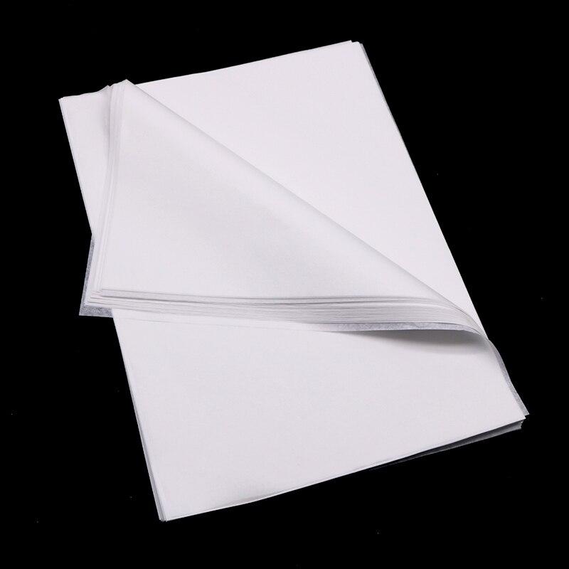 100 folhas/lote a4 translúcido papel de embrulho papel de tecido bookmark presente papel de embrulho de frutas papéis material de embalagem de presente floral