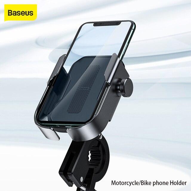 Baseus Bike Phone Holder For iPhone Samsung Android Bike Mount Bracket GPS Stand Universal Motorbike Phone Holder