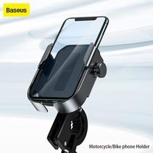 Baseus אופני טלפון מחזיק עבור iPhone סמסונג אנדרואיד אופני הר Bracket GPS סטנד אוניברסלי אופנוע טלפון בעל