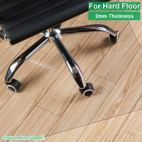 New Transparent Wood Floor Protection Mat PVC Plastic Floor Carpet Computer Chair Mats Protectors Plastic Square Carpet Rug