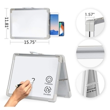 Table-Top Whiteboard Drawing Desktop Magnetic on Mini with Holder for Kids Easel Foldable