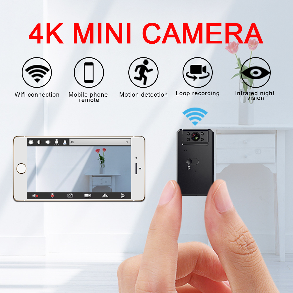 WiFi 4K Full HD MD90 Mini Sport Camera 1080P Micro Cam Infrared Night Vision Digital DV DVR Video Bike Outdoor Action Camcorder