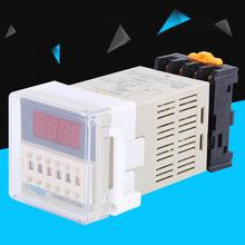 цена на DH48S-S cycle time relay LCD Display 0.1 Seconds-99 Hours Timer Delay Relay with socket Base 110V AC