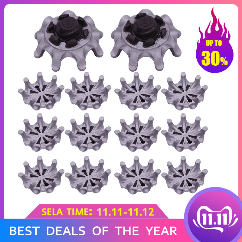 14pcs Golf Shoes Pins Training Shoes Fast Twist Shoe Spikes Golf Sneaker Cleats Accessories