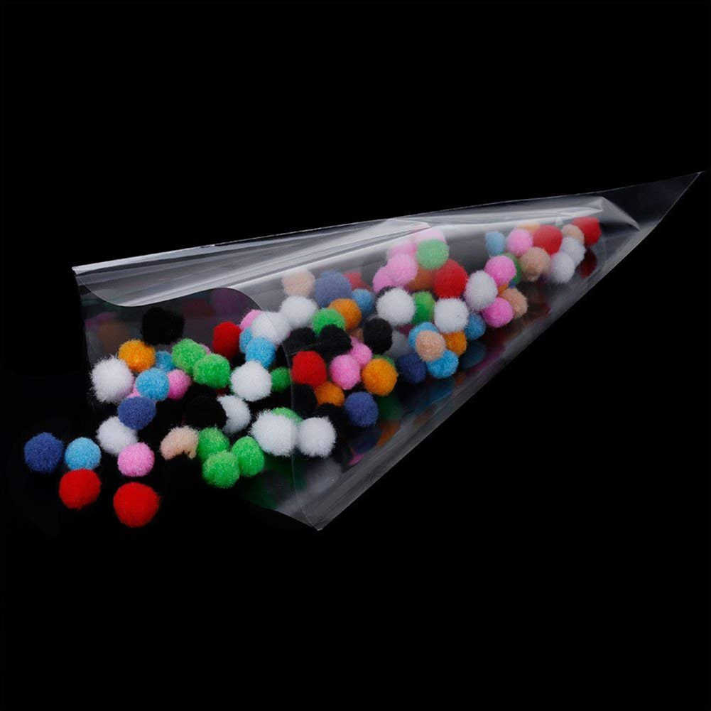 100Pcs Transparent Cone Food Candy Bag Sweet Pouch Wedding Birthday Party Decor Biscuits Snack Wedding Favors Gifts Package Bag