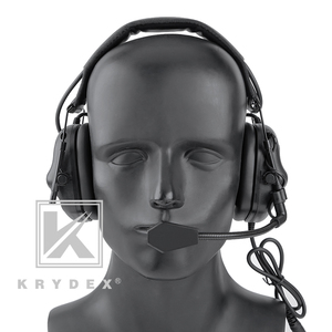 Image 2 - KRYDEX Tactical Headset With Micphone Peltor Black Noise Reduction Sound Pick Up Communication Electronic Detachable Headphone