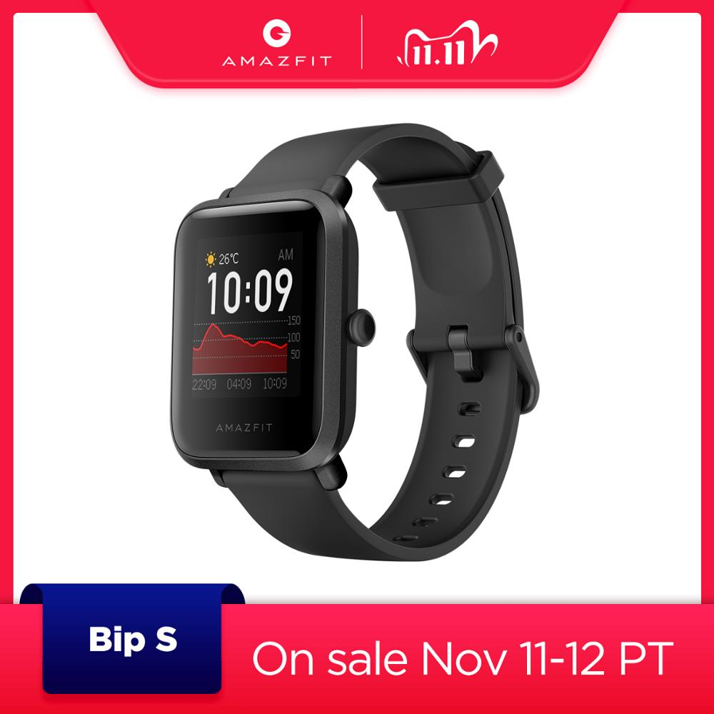 2020 New Global Version CES Amazfit Bip S Smart Watch 5ATM waterproof Smartwatch Bluetooth Bip For Android iOS Phone