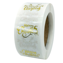 Decoration Sticker Clear Seal-Labels Wedding-Package Christmas-Gift 100-500pcs for 1inch