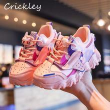 Демисезонные модные кроссовки для девочек разноцветная спортивная
