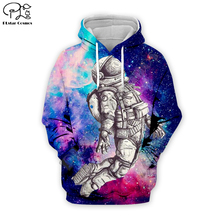 Colorful astronaut space 3D Hoodie Sweatshirt Men Women Hoodies Casual Cute animal shirt yhy-018