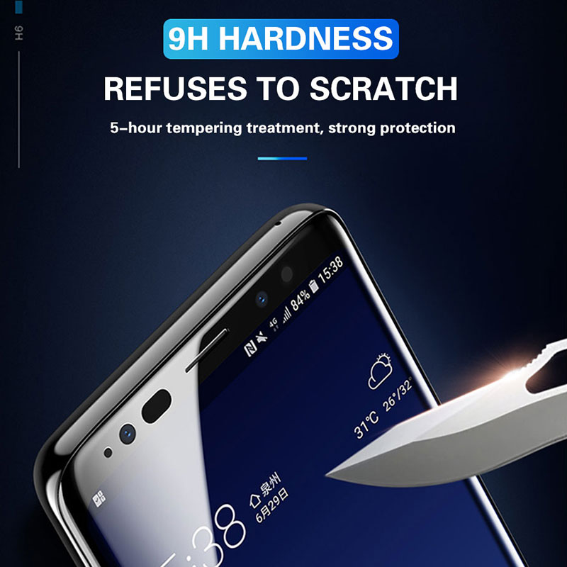 300D Full Curved Tempered Glass For Samsung Galaxy S8 S9 Plus Note 9 8 Screen Protector For Samsung S7 S6Edge S9 Protection film 3