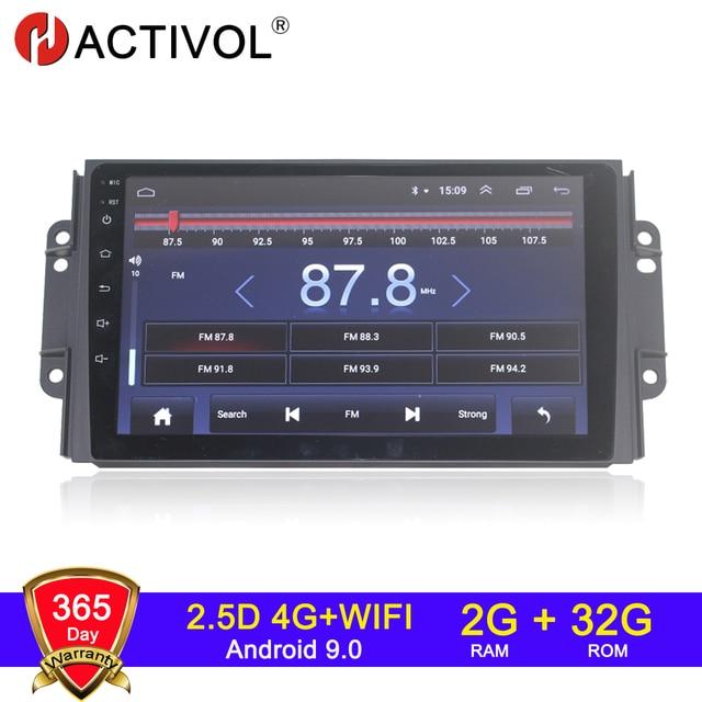 4G WIFI 2G 32G Android 9.0 2 din araba radyo Chery Tiggo için 3X tiggo 2 3 autoradio магнитола araba ses автомагнитола araba stereo