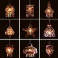 Máscaras De Vidro Luz Pingente de Estilo mediterrânico Decoração Handmade Turco Mosaico Luminária Para Bar Coffee Shop