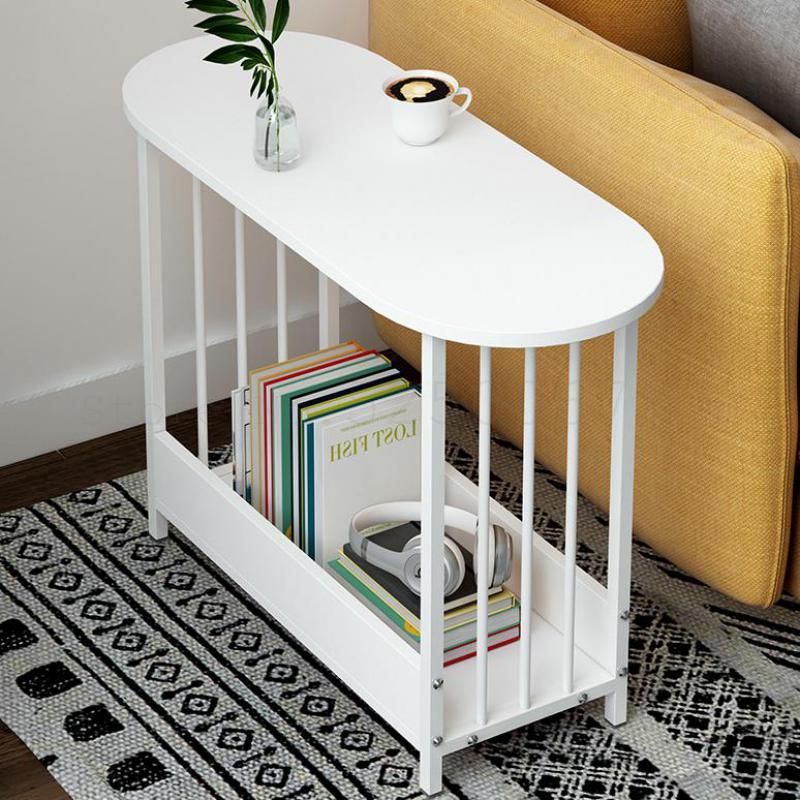 Сдержанный мобильный креативный маленький семейный диван, чайный столик, боковой столик, домашняя гостиная, простой маленький стол