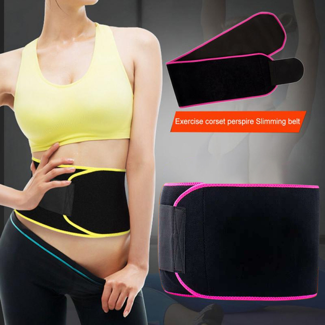 Supporting Sweat Belt Flexible Slimming Waist Trimmer Gym Adjustable Body Shaper Workout Weight Loss Phone Pocket Training 5