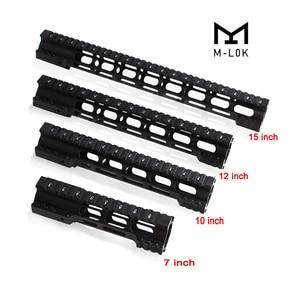Magorui 7 10 12 15 pulgadas M4/M16 AR15 flotador libre m-lok Quad Rail guardamanos Picatinny Rail con tuerca de barril de acero