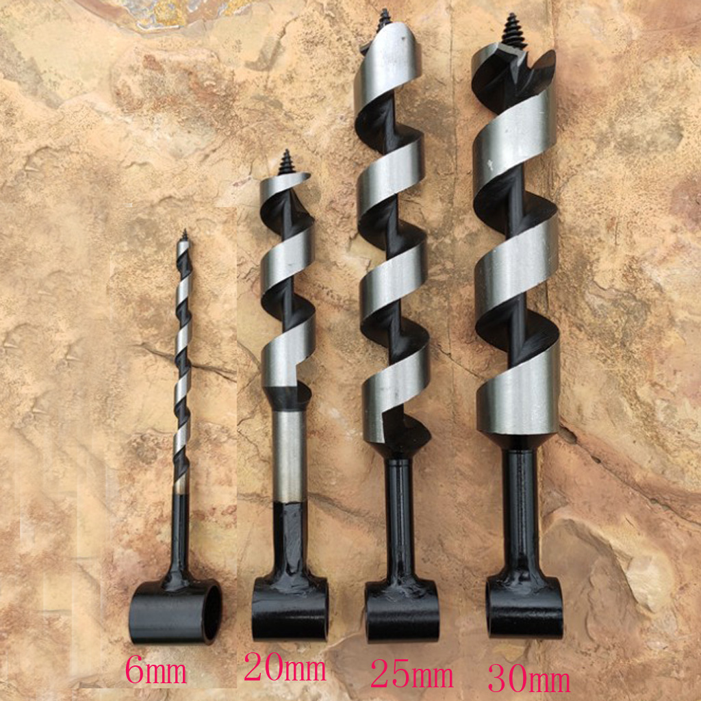 Eye Wood Drill Bits Backpack 25//30mm Bushcraft Camping Hand Auger Bits