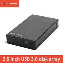 Acasis HDD 인클로저 USB3.0 2.5 인치 2 플레이트 SATA 하드 드라이브 박스 5Gbps 외장형 hdd 도킹 스테이션 지원 RAID 2 테라바이트