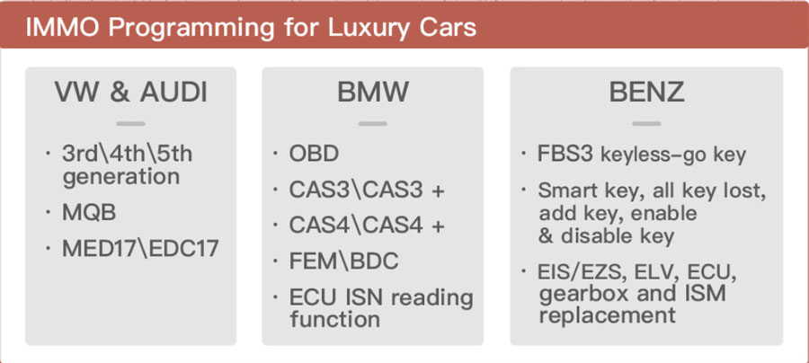 Xhorse key tool plus IMMO Programming for Luxury Cars