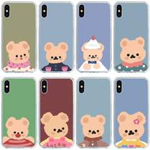 Urso urso caso do telefone huawei para o telefone móvel para huawei p20 p30 por smart p40 lite