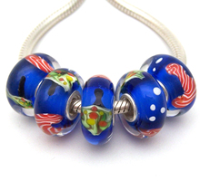 YG50 5X 100% Authenticity S925 Sterling Silver Beads Murano Glassbeads beads Fit European Charms Bracelet diy jewelry Lamp-work покрывало iv50605 велсофт 180х210