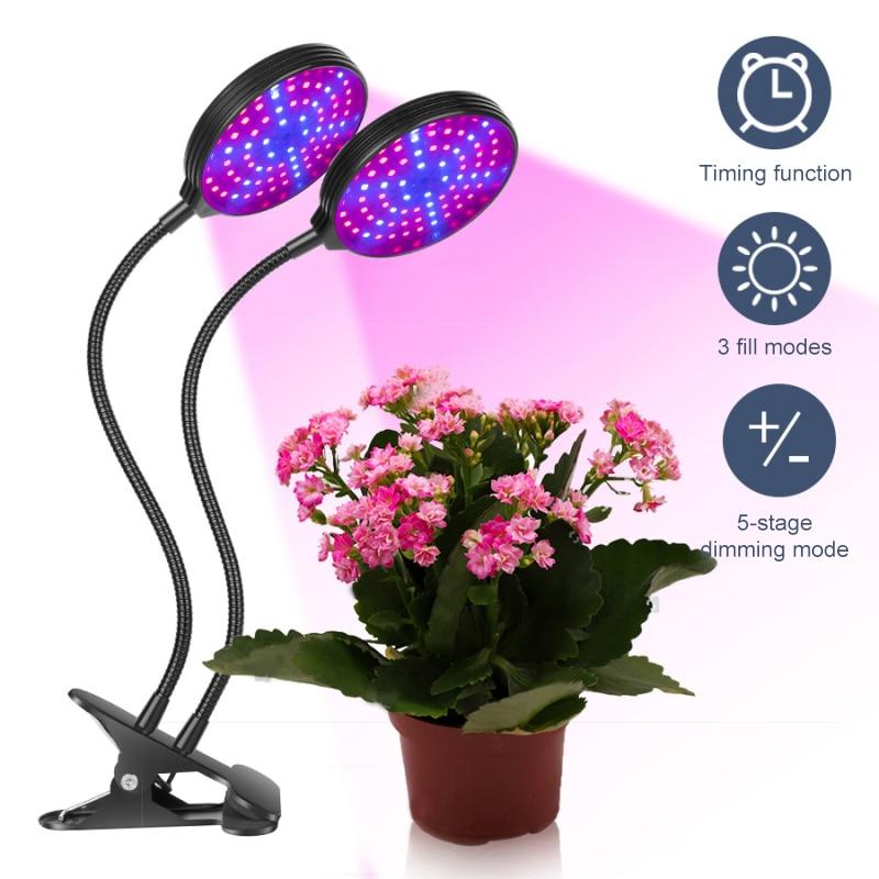5 Modes Light Full Spectrum Led Grow Light Plant Growth Lights Lamp 360-degree Rotary Flower Plant Lamp Led Plant Growing Lamp