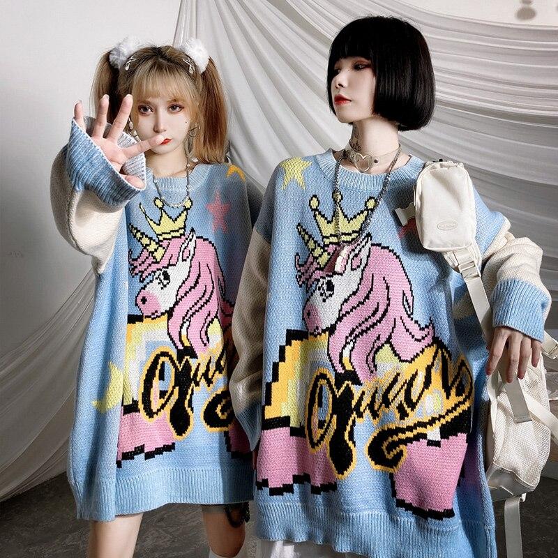 Купить женские свитера большого размера jing zhe теплые вязаные пуловеры