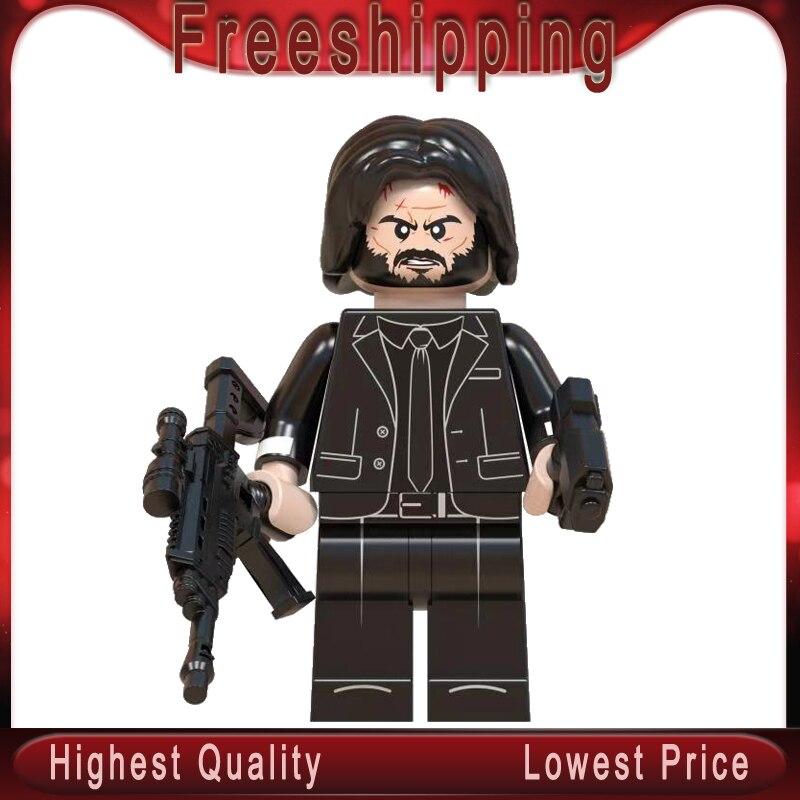 Legoed John Wick House Of Paper Building Blocks TV Series Doctor Who Stranger Things Blocks Brick Toys Children Gift WM830