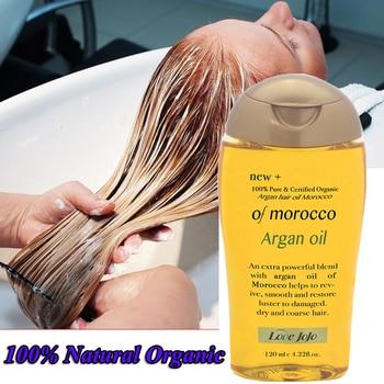 Super 120ml  100% Natural Organic Morocco Argan Oil Hair Care Scalp Essential Oil For Repairing Dry Damage Hair Treatment 1