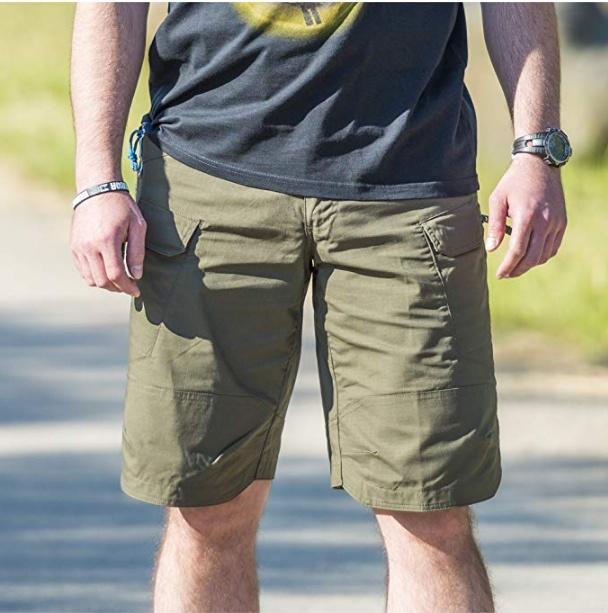 Su Geçirmez Kargo Cepli Şort / Kısa Pantolon