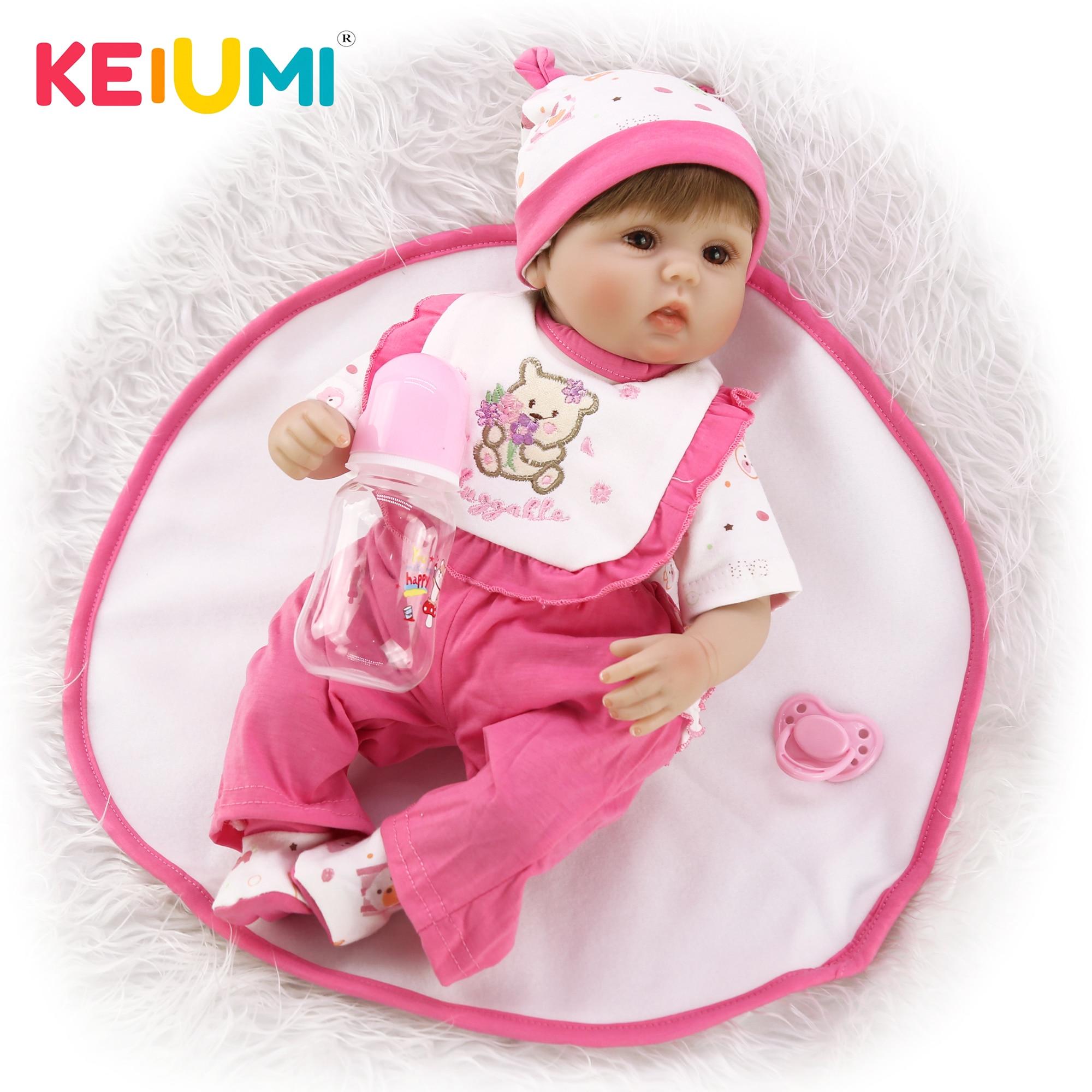 16 Inch Reborn Baby Dolls Realistic Vinyl Silicone Newborn Babies Girl Doll Gift