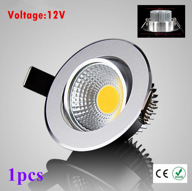 1pcs Super Bright <font><b>Led</b></font> <font><b>downlight</b></font> light COB Ceiling Spot Light 3w 5w 7w ceiling recessed Lights Indoor Lighting image