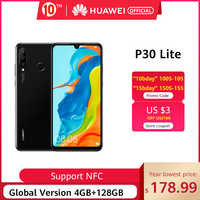 NFC Globale versione Huawei P30 Lite 4GB 128GB 6.15 Smartphone Globale Versione pollici Kirin 710 Telefono Android 9.0 cellulare