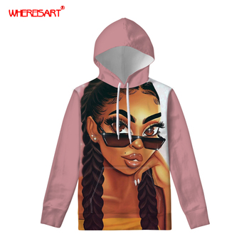 FORUDESIGNS Womens Hooded Sweatshirt Black Girls Women Hoodie Sweatshirt Pullover Hoodie with Front Pocket and Drawstring Hood ombre topstitched pocket design hoodie