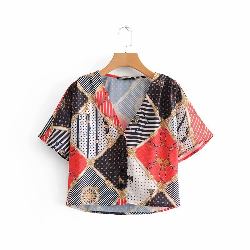 The European and American fashion printing jacket JF32-8885
