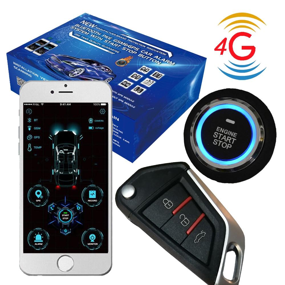 4G  cardot best Start Stop Engine passive Keyless Entry Smart Remote Starter Car Alarm start stop car stop lock lock door - title=
