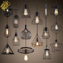 Ретро промышленная Подвесная лампа односторонняя креативная лампа для столовой Бар молочный чайный магазин Железный художественный простой подвесной светильник