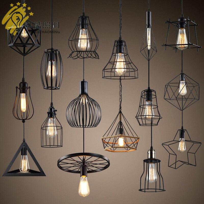 Retro Industrial Pendant Lamp Single-ended Creative Personality Dining Room Lamp Bar Milk Tea Shop Iron Art Simple Pendant Lamp