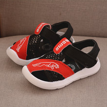 Child Toddler Sandals for Baby Girl Shoes Color Net Cloth Breathable Boys Sneakers New Design Kids Infant Sport Girls Sandals