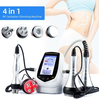4 in 1 RF Ultrasound Cavitation Slimming Machine 40K Vacuum Bipolar Remove Cellulite Fat Burner Massager Body Shaping Equipment 1