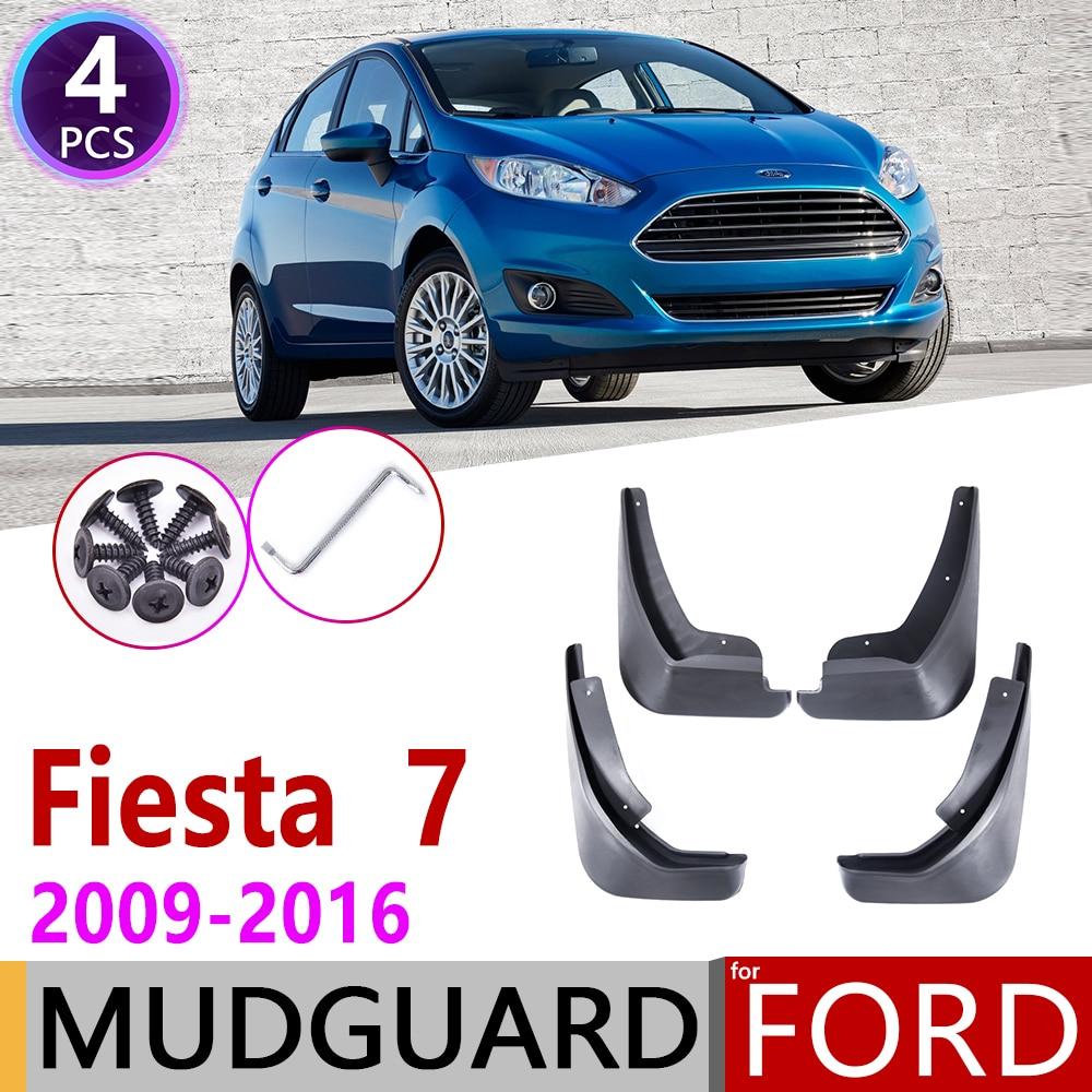 Mudflap For Ford Fiesta 7 MK7 Hatchback 2009~2016 Fender Mud Guard Splash Flaps Mudguard Accessories 2010 2011 2012 2013 2014
