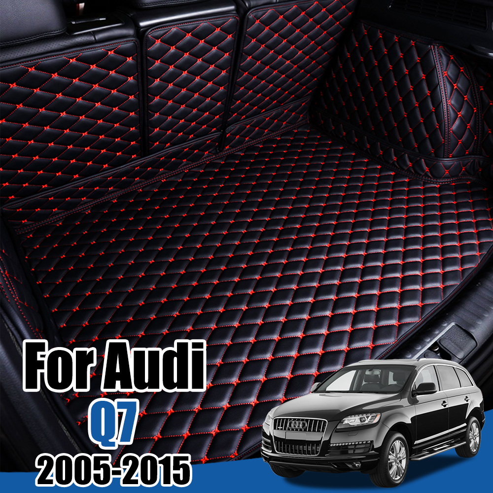 Leather Car Trunk Mat for Audi Q7 2005 2006 2007 2008 2009 2010 2011 2012 2013 2014 Trunk Boot Mat Liner Pad Cargo Liner