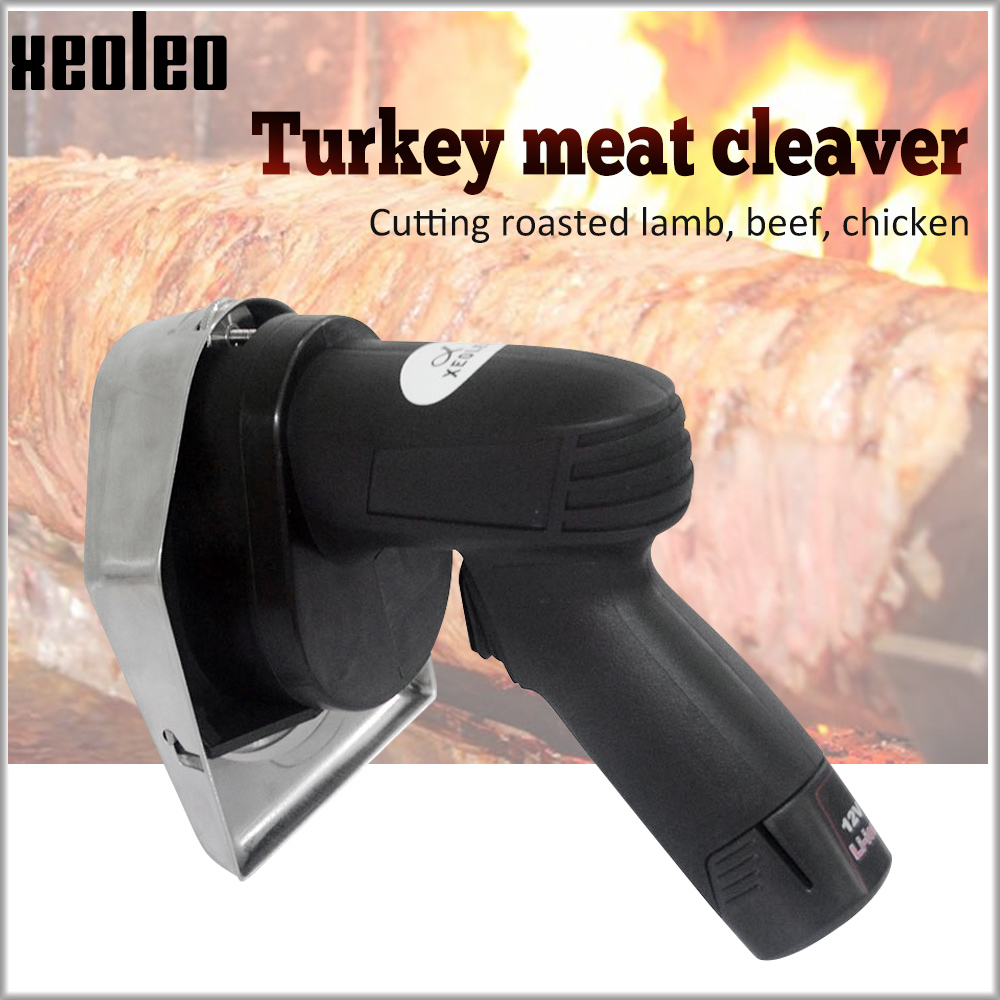 XEOLEO Turkey Meat Cleaver Charging Kebab Slicer Li-ion 12V Batter Kebab Slicer Shawarma Gyros Cutter Middle East Grill Cordless