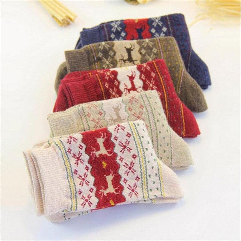 Hot Sale! Women's Socks Lady Christmas Gift Fashion Winter Cute Wool Socks Ladies Crazy Sock Female Thermal Warm Animal Socks