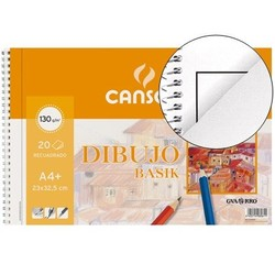 NOTEPAD DRAWING BASIK DIN A4 + SPIRAL 23X325 CM-20 SHEETS MICROPERFORADO-2 DRILLS-WITH BOX 10 Units