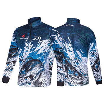 2021 New DAIWA Fishing Clothing Camouflage Fishing Clothes Sunscreen Breathable Anti Mosquito Quick Dry DAWA Fishing Shirt