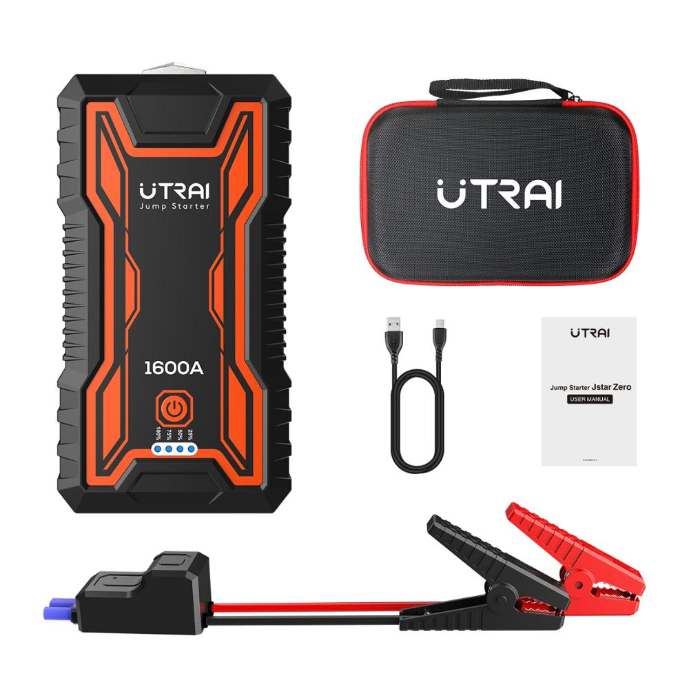 UTRAI Car Jump Starter 16000mAh Power Bank Portable Emergency Charger  With Safety Hammer Car Booster Starting Device