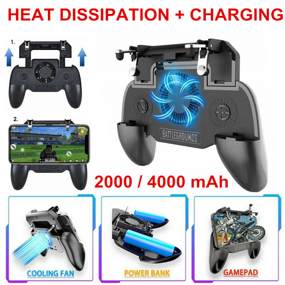 3 in1 Pubg Controller Gamepad For iPhone Android Pubg Mobile Trigger L1R1 Shooter Joystick Game Pad Phone Holder Cooler Fan GT